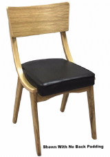 Ben-Kim Wooden Natural Oak with Upholstered Seat and Back